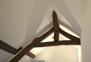 détail vue du lit ange
