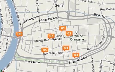 Visite audio guid e centre ville de sens sens yonne for Plan de sens dans l yonne