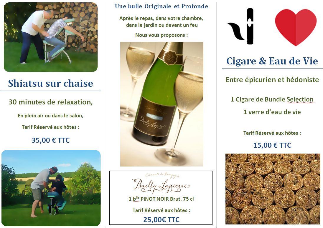 promotion pour chambre shiastu sur chaise crémant de bourgogne et cigare prix 2014